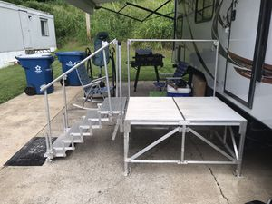 Light weight foldable porch and steps for RV for Sale in Saint Charles, MO