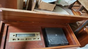 Antique Fisher record player and radio for Sale in Rancho Cucamonga, CA