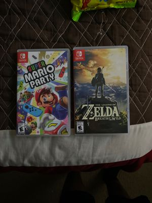 Super Mario party and legend of Zelda breath of the wild for Sale in Tolleson, AZ
