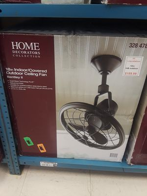 Home Decorators Collection Bentley II 18 in. Indoor/Outdoor Natural Iron Oscillating Ceiling Fan with Wall Control for Sale in Tarpon Springs, FL