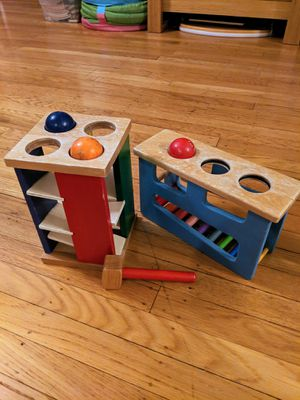 Montessori Melissa and Doug pound and roll tower, plus for Sale in Portland, OR