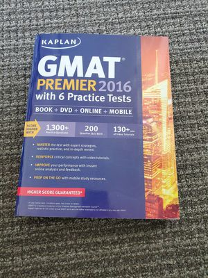 [New] Kaplan GMAT Premier 2016 Book, DVD, Online, & Mobile Prep for Sale in Redwood City, CA