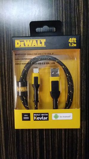 DeWALT Reinforced Cable For USB-C To USB for Sale in Dallas, TX