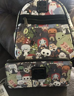 Loungefly The Nightmare Before Christmas Chibi Character Print Mini Backpack Set for Sale in Pico Rivera, CA