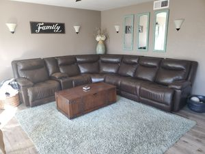Leather Couch for Sale in Rancho Cucamonga, CA