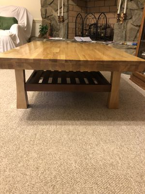 2 toned refinished coffee table (like new) for Sale in Monroe, NC
