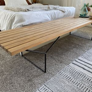 Slat Bench By Harry Bertoia For Knoll for Sale in Canton, GA