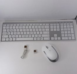 Jelly Comb 2.4GHz Ultra Slim Full Size Rechargeable Wireless Keyboard and Mouse Combo for Sale in San Bernardino,  CA
