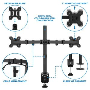 IKross Dual Monitor Mount with C Clamp for Sale in Laurel, MD