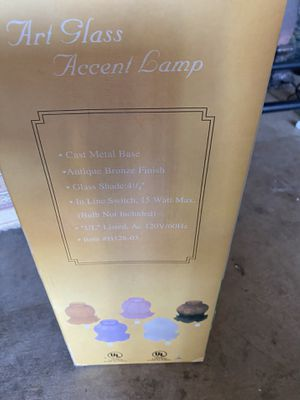 "3- Art accent lamp ""similar Tiffany"" brand new in boxes for Sale in Ontario, CA"