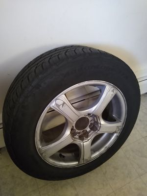 16 INCH TIRE & RIM. 5 LUG UNIVERSAL 5×4.5 PATTERN for Sale in Pawtucket, RI