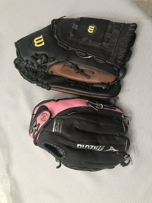 Softball glove and baseball glove oversized SB and small BB for Sale in Visalia, CA