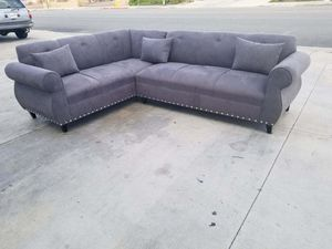 NEW 7X9FT CHARCOAL MICROFIBER SECTIONAL COUCHES for Sale in Selma, CA