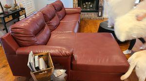 Leather sofa for Sale in Odessa, FL