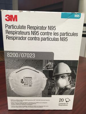 3M N95 Particulate Respirator Face Mask 20 Pack Coronavirus Protection for Sale in Bakersfield, CA