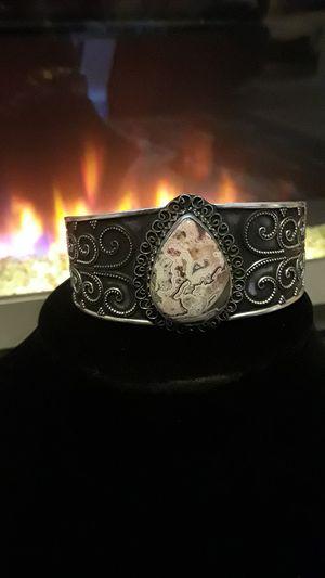925 beautiful Laguna Lace stamped cuff for Sale in Riverview, FL