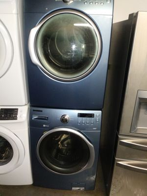 🏭Sansung washer dryer electric nice set🌅 for Sale in Houston, TX