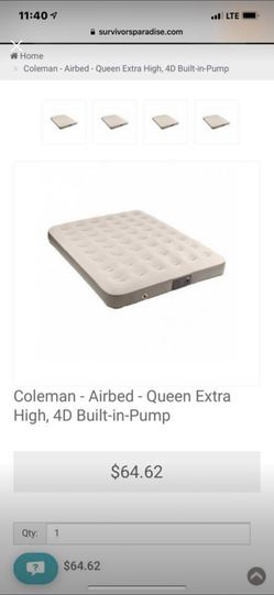 Queen Coleman Air Mattress with built in pump for Sale in Raleigh,  NC