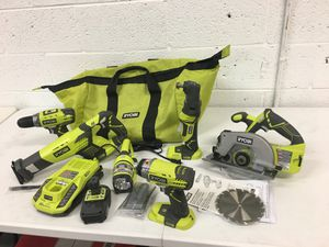 Ryobi 18 Volt 6 Tool Kit Circular saw Jobplus Multi-tool Impact driver Drill Light for Sale in Mesa, AZ