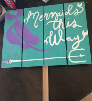 Mermaid sign for Sale in Rialto, CA
