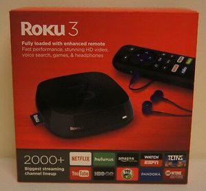 Roku 3 Media Streaming Device with Enhanced Remote (Black; Model: 4230R) for Sale in Vista, CA
