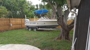 Boat 21 ft key west Honda engine 225 with trailer for Sale in Kissimmee, FL
