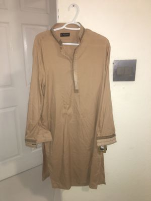Brand new Arshad S shalwar kameez traditional Pakistani men cloth - never worn shirt and pant - tags still on for Sale in Southwest Ranches, FL