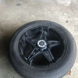 4 Truck Tires Black Rims An Tires for Sale in Hinsdale, IL