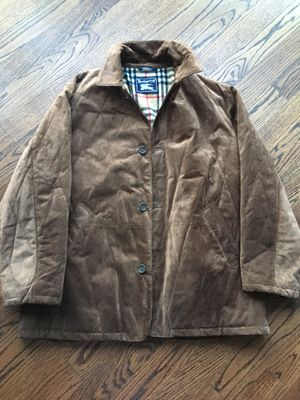 Mens Burberry suede leather prorsum coat xl for Sale in Chicago, IL