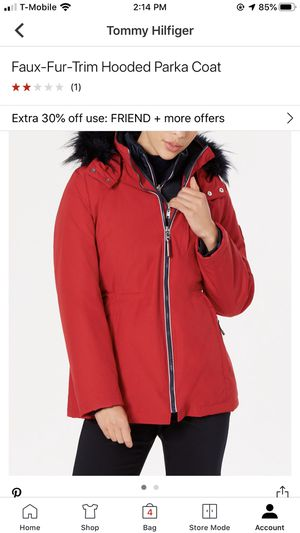 Faux Fur Trim Hooded Parka Coat for Sale in Los Angeles, CA