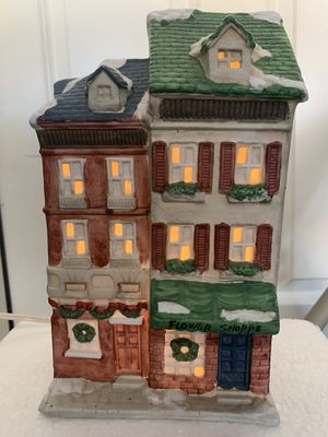 Vintage Christmas Mervyns Village Square Lighted Flower Shoppe 1992 for Sale in Fairfield, CA