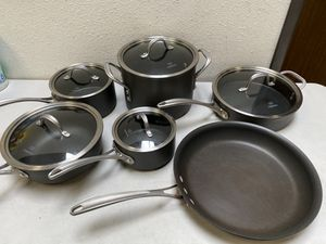 Calphalon 13-piece Commercial Cookware Set pans pots for Sale in Chino, CA