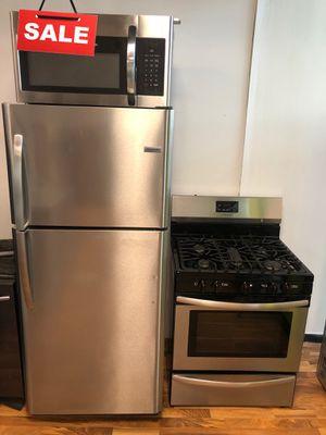Kitchen Set Refrigerator Fridge Frigidaire Stainless Steel #1599 for Sale in Greenwood, IN