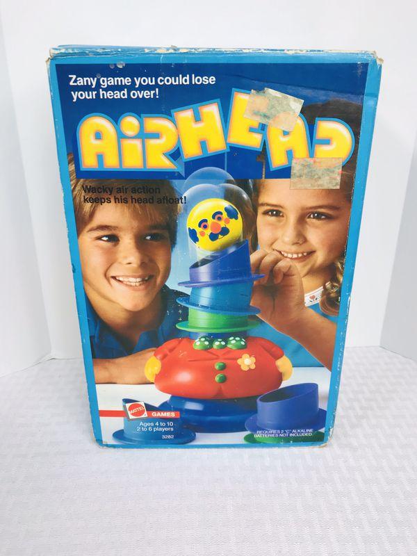 Vintage Rare 1986 Mattel AIRHEAD family kids game
