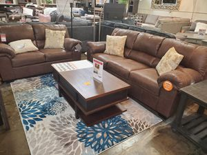 2-Piece Sofa and Loveseat, Brown for Sale in Santa Ana, CA