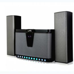 befree-sound-2-1-bluetooth-channel-multimedia-wired-speaker-system-with-sound-reactive-led-lights-remote-control-and-digital-display for Sale in Saint Joseph, MO