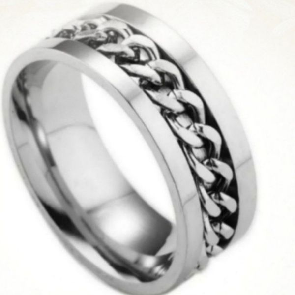 NWT Stainless Steel Spinner Ring Sz 10