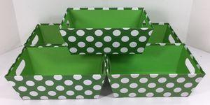 Green Polka Dot Individual Gift Baskets - New! - Buy 2 Get 1 Free! for Sale in Auburn, WA
