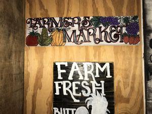Handmade Farmers Market sign for Sale in Nederland, TX