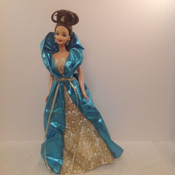 Barbie in a Turquoise Ball Gown