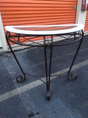 Half Moon Console Table for Sale in Lake Ridge, VA