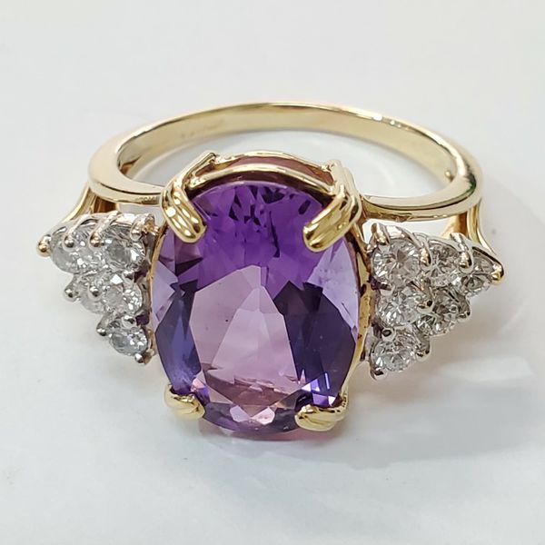 Amethyst Diamond Ring With Certificate 💜💍