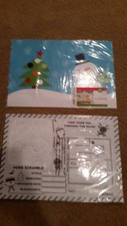 (24) New Kids Snowman Activity Mats (2 Packs of 12) for Sale in Ashburn, VA