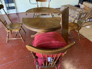 Wood Breakfast Table Set for 4 / cushions included for Sale in Riverview, FL