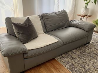 Ikea Leather Sofa for Sale in Portland,  OR