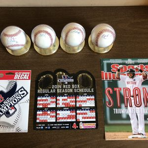 2013 Signed Baseballs From 2013 Boston Red Sox World Series Champions for Sale in Tempe, AZ