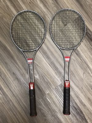 Vtg Wilson T3000 Tennis Racquets (Pair) for Sale in Ontario, CA