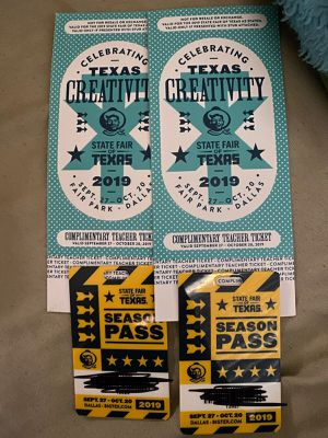 State fair season pass and tickets. for Sale in Cedar Hill, TX