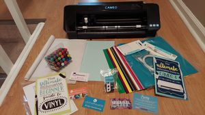 Silhouette Cameo 4 cutting machine like new vinyl pens instructions amazing gift Christmas for Sale in Virginia Beach, VA