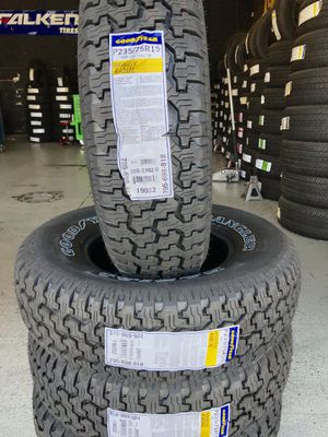 BRAND NEW SET OF GOODYEAR TIRES 235/75r15 235/75/15 for Sale in Rialto, CA